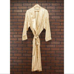 Victoria's Secret Intimates & Sleepwear - VICTORIA'S SECRET Vintage Jacquard Gold Robe Sz L